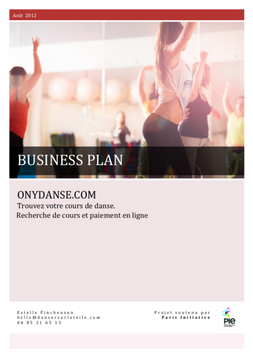 Exemple de page de garde pour business plan