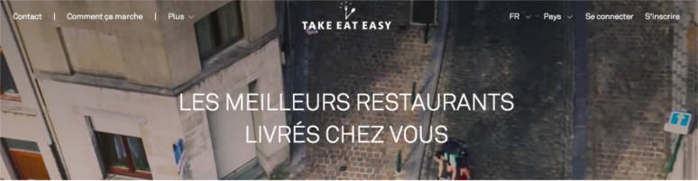 TakeEatEasy unique selling proposition